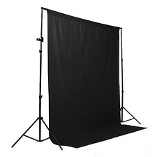 6 x 9ft Black Screen Muslin Photo Studio Photography Backdrop Background NEW