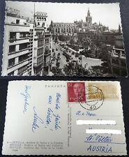 ANTIGUA POSTAL SEVILLA 1963 ARCHIVO DE INDIAS Y CATEDRAL  C3551