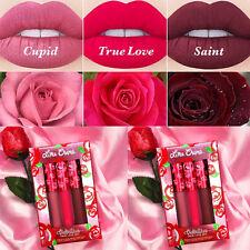 Hot Lime Crime Velvetines Liquid Matte Lip Gloss Lipstick - True Love Set Box