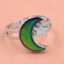 Fashion Chic 1PC Mood Ring Changing Color Moon Adjustable Temperature Ring HM