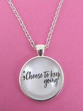 Semi Colon Choose To Keep Going Necklace New Gift Bag Mental Health Awareness