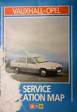 vauxhall opel service station map with adress numbers etc belmont on front cover