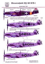 Hungarian Aero Decals 1/48 MESSERSCHMITT Bf-109B & Bf-109D German Fighters