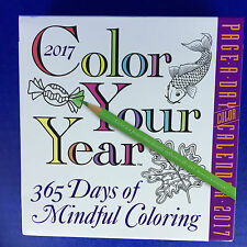 2017 Page-A-Day Boxed Desk Calendar Color Your Year Mindful Coloring Book