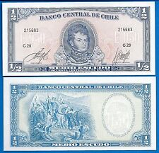 Chile P-134a 1/2  Escudo Year ND Issue 1962-75 Unc FREE SHIPPING