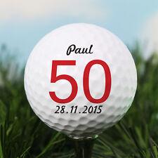 Personnalisé âge balle de golf tout message. grand-père papa oncle frère cadeau d'anniversaire
