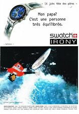 "Publicité Advertising 2002 La Montre ""Hailstorm"" par Swatch Christian Fletcher"