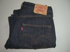 Mens LEVI'S STRAUSS & CO. 501 Dark Blue Denim Jeans W36 L30 Straight Leg Red Tab