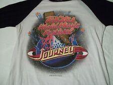 True Vtg 1982 TEXXAS TEXAS WORLD MUSIC FESTIVAL Journey Joan Jett 3/4 Sl T-SHIRT