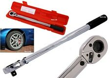 "HEAVY DUTY 3/8"" DRIVE TORQUE CV STEEL WRENCH RATCHET GARAGE TOOL 5-80FT LB CASE"