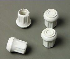 """4 Pack 5/8"""" Rubber Tips- Cane, Crutch or Chair- White CT-625-W"""