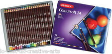 DERWENT COLOURSOFT 24 COLOUR PENCIL TIN SET-  ARTISTS DRAWING & PAINTING