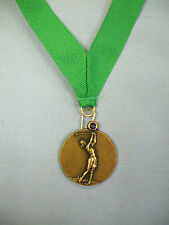 "gold female golf medal green drape 1 1/2"" diameter"