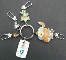 VANCOUVER 2010 OLYMPIC GAMES MASCOT KEY RING QUATCHI SUMI MIGA MUKMUK WINTER