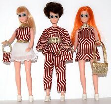 Rare Topper Dawn Clone Lot - 3 Montgomery Wards Dolls EHS OOAK Custom Fashions!