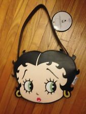 "Betty Boop Black Purse-Betty's Face-10"" x 8"" x 2 1/2""-2005-Retired-New With Tags"