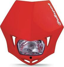 Polisport - 8663500006 - MMX Universal Headlight, Red
