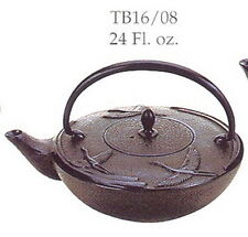 Japanese Tetsubin Cast Iron Teapot 24oz Black Crane TB16-08