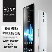 Unlock Code for Sony Xperia Phones Z ZL Z1 SP S P J T U CM ZR E (O2 & 3 & SFR)