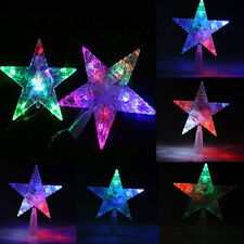 Christmas Tree Topper Star Colorful Changing LED Light Lamp Xmas Decoration