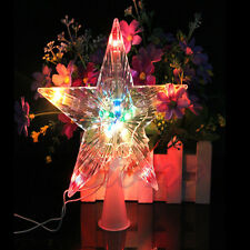 New Christmas Colorful Changing Xmas Tree Star Light Party LED Lamp Decoration