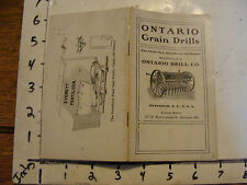 vintage ONTARIO GRAIN DRILLS Catalog, 24 pgs, undated early 1900's
