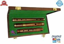 Professional Irish D Flute Rosewood Natural Finish with Wooden Hard Case/D Flute