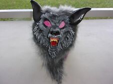 HAIRY WOLFMAN GRAY MASK ADULT HALOWEEN COSTUME