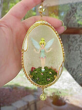 REAL Carved Goose Egg Decorated Christmas Tree Ornament Gift Tink Tinkerbell #1