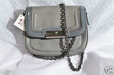 NWT Coach Gray Spectator Leather Kristin Leather Crossbody Bag Purse 46004