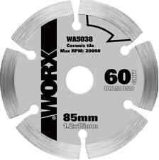 Worx 85mm 60 Grit Diamond Circular Saw Blade Ceramic Stone Tile Cutting WA5038