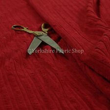 Furnishing Upholstery Fabric High Low Soft Velvet Textured Cord New Red Colour