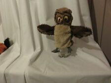 "10"" cute soft  ikea vandring uggla owl plush hand puppet missing attached label"