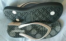 CONVERSE BLACK AND WHITE THONG SANDALS SHOES SIZE 37.5 OR 7 BNWT