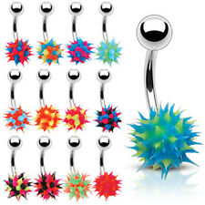 SPECIAL PURCHASE - 15pc Assorted Koosh Silicone Belly Rings Navel Naval (B72)