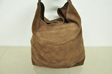 Authentic BALENCIAGA Russet Brown Suede Leather Large Hobo Bag