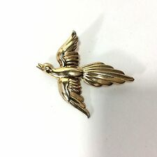 CORO Bird Brooch Vintge Sterling by Gold Plate or Wash Sterling Silver 1950s