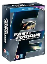 Fast & Furious 1-7 COMPLETE COLLECTION Blu-ray [Region Free] Sealed
