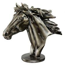 Pure Power and Majesty Galloping Quarter Horse Equestrian Statue Bust Sculpt