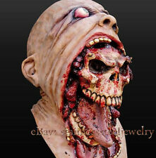 Bloody Zombie Mask Melting Face Adult Latex Costume Walking Dead Halloween Scary