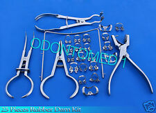 25 Pieces Rubber Dam Kit Dental Instruments
