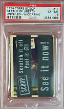 RARE 1954 TOPPS SCOOPS w/coating STATUE OF LIBERTY UNVEILED #11 PSA 6