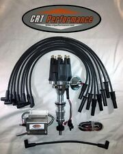 FORD FE 352-390-427-428 PRO SERIES HEI DISTRIBUTOR BLACK + 50K COIL + PLUG WIRES
