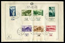 Israel Very Rare Folder,Souvenir Leaf 1954 Landscapes Airmail Full Tabs.  x21806