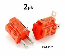 2-PACK 2-Prong to 3-Prong Polarized Grounding AC Power Plug Adapter, PS-A11-2