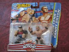 WWE Rumblers John Cena & Randy Orton Wrestling Figures 2012 Action New Figure