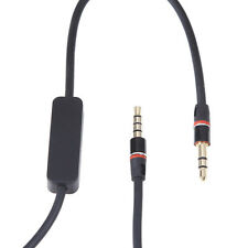 "BLK 3.5mm 1/8""Audio Cable AUX-In Cord w/ MIC For Monster N-Tune On-Ear Headphone"