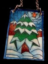 Dolls House  (The look of) a Tiffiny Stain glass Window Christmas Panel