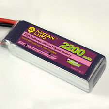1X Kudian 14.8V 2200mAh 25C 4S LIPO Battery Pack