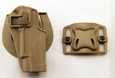 Quick Draw Tactical Right Hand Belt Holster w Paddle for Colt 1911 M1911 Tan